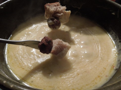 Cheeseburger Fondue