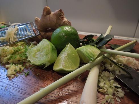 Zitronengras, Ingwer, Limette