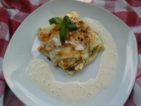 offene Zucchini-Lasagne
