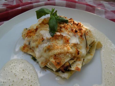 Zucchini-Pesto-Lasagne