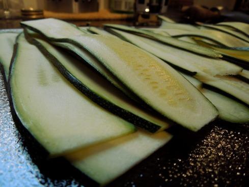 Zucchini-Streifen