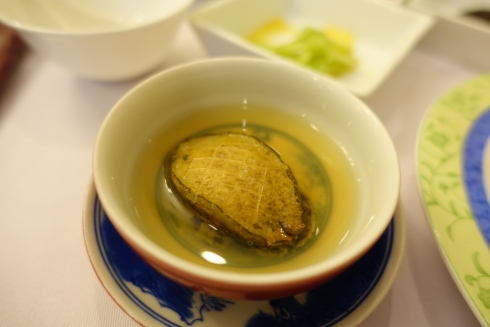abalone in beef stock
