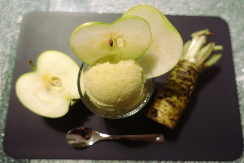 Green Apple Sorbet with Wasabi
